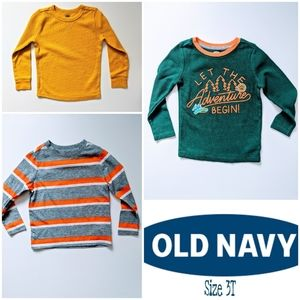 3 Pack Boys Old Navy Long Sleeve Shirts Size 3T